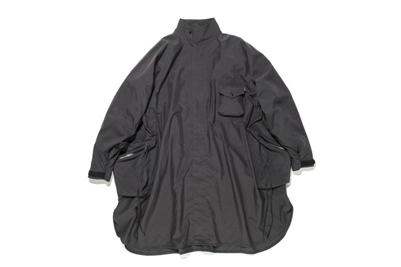 cmf comfy outdoor garment lost hills ss20 poncho rain falls japanese menswear release