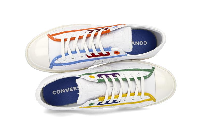 Converse Star Player OX Logo Mash Up menswear streetwear spring summer 2020 collection footwear shoes sneakers trainers runners basketball court low cut 167141C