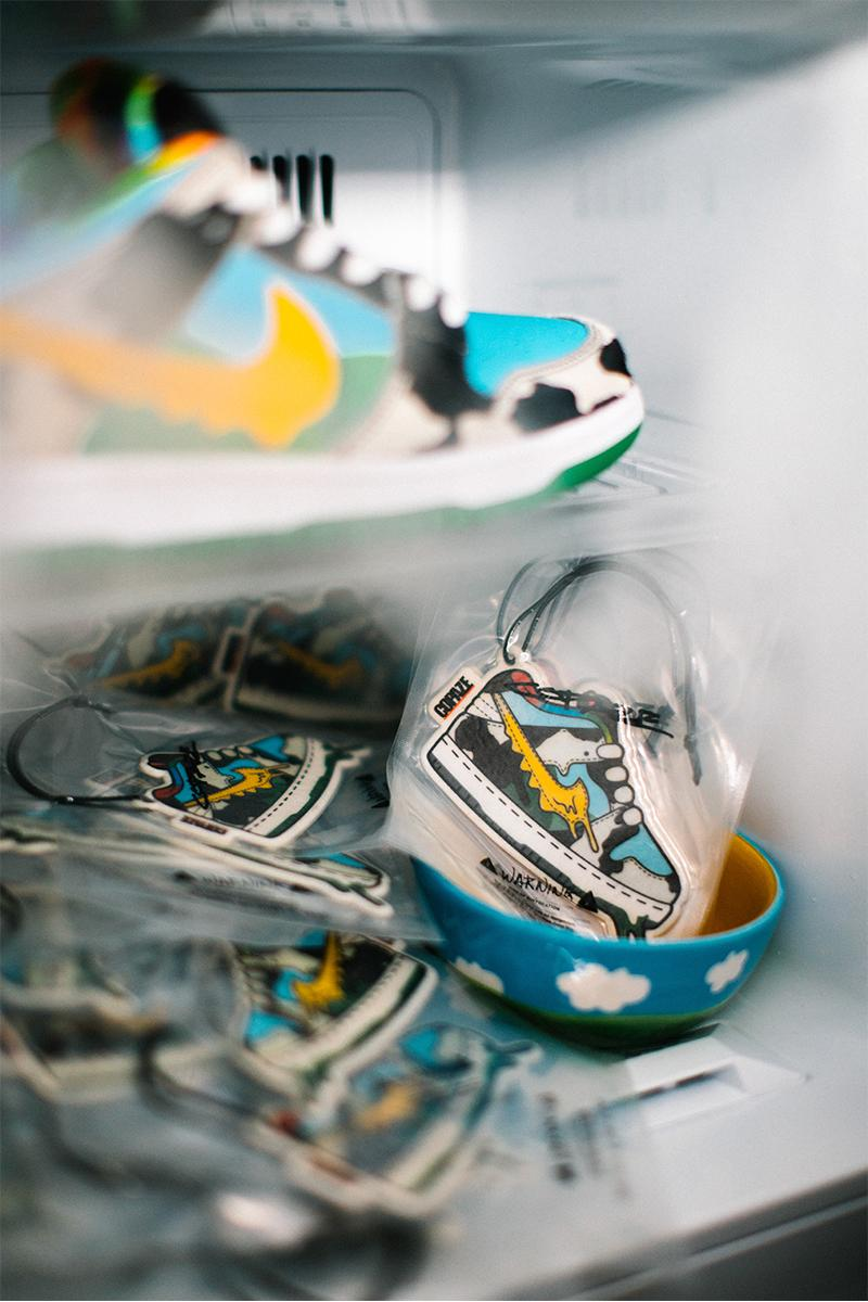 Copaze Ben & Jerry's Nike SB Dunk Low Chunky Dunky Rug Air Freshener Release