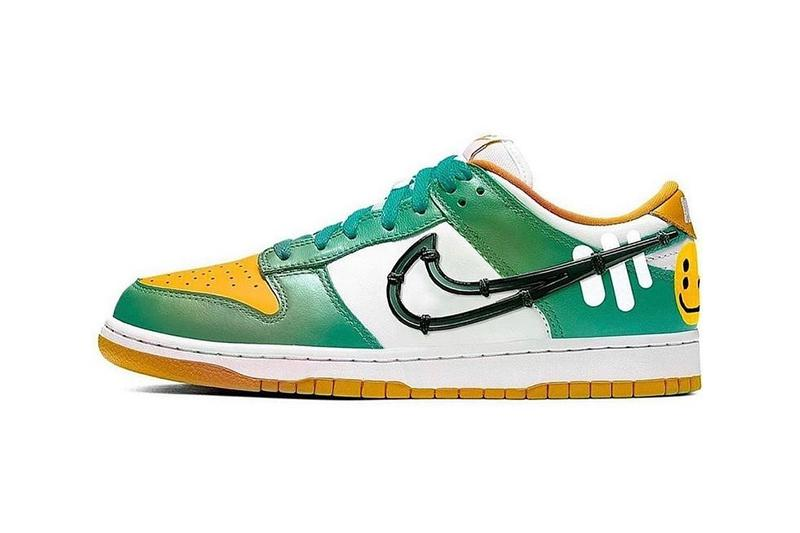 Cactus Plant Flea Market Spiral Sage Green Dunk Low  Cynthia Lu CPFM kicks SB footwear trainers collabs drops sneakers