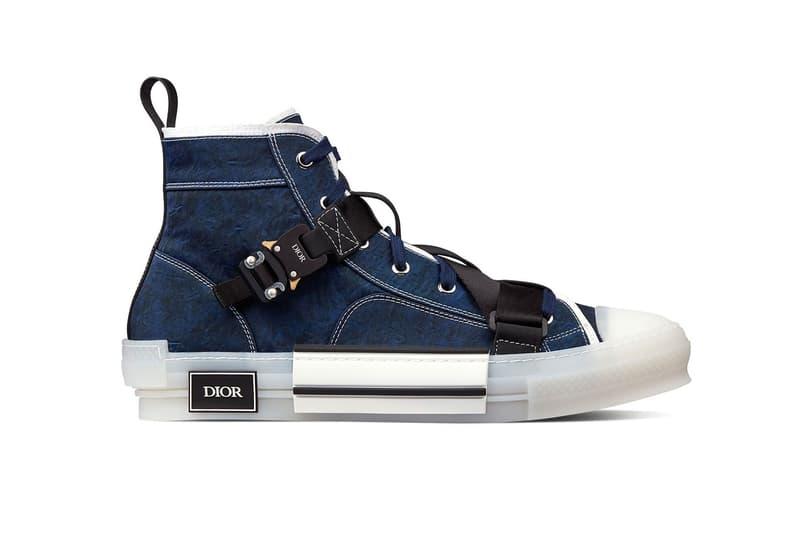 3SH122YQG_H569 Dior Blue Technical Canvas B23 Sneaker trainers canvas sneaker classic retro COBRA Buckle Techwear Kim Jones