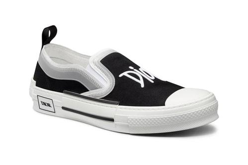 Dior Supplies Sleek B23 Slip-On Sneaker in Black and White