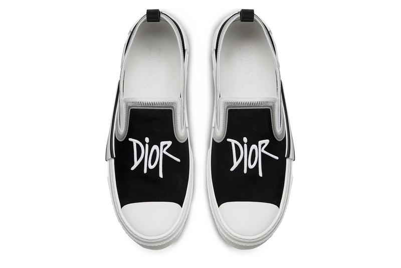 christian dior b23 slip on sneaker shoe black white shawn stussy official release date info photos price store list buying guide