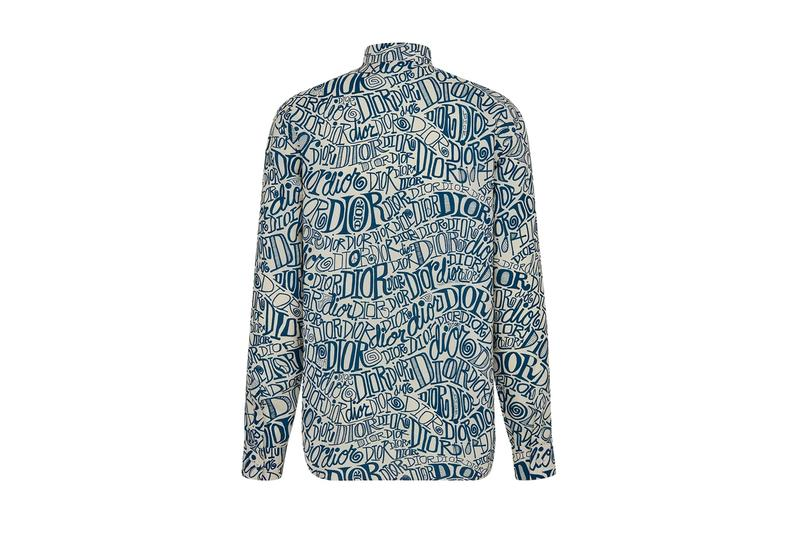 Dior Shawn Stussy Shirt menswear streetwear spring summer 2020 collection capsule graffiti button up