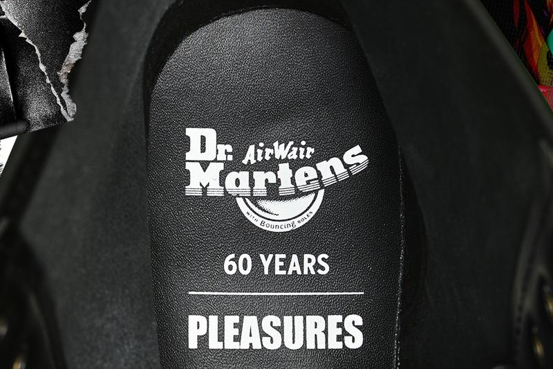 PLEASURES alex james dr martens 1460 remastered boot new wave punk black patent leather buy cop purchase release information