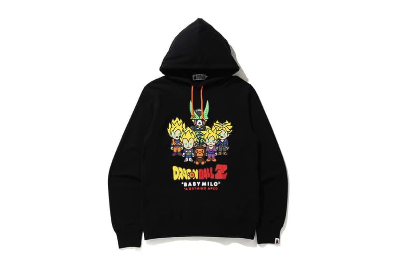 Dragonball Z BAPE Collection Release Info Baby Milo A Bathing Ape Goku Cell Vegeta Trunks Gohan Jacket T-shirt Hoodie Polo Towel Keychain
