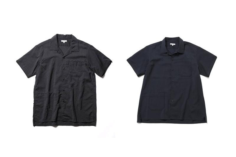 engineered garments wild life tailor ten years camp shirt grey navy japanese tokyo