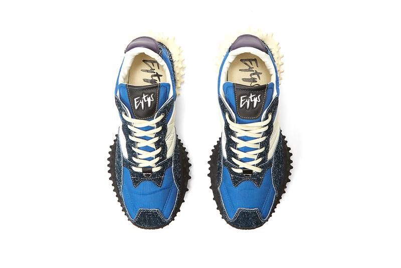 Eytys Contrast Panel Sneakers Blue White Chunky Trail Sneaker Footwear Shoes Release Information New Silhouette Technical Nylon Suede Leather
