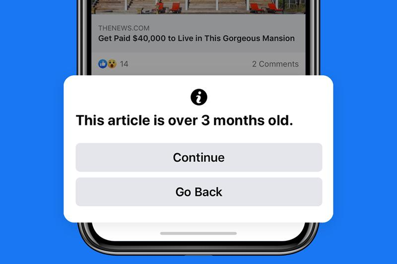 Facebook To Alert Users When Sharing Old News Hypebeast