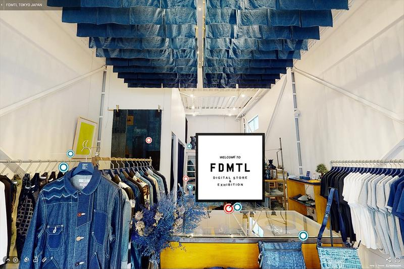 FDMTL Digital Store Virtual Exhibition info one off art pieces physical space coronavirus covid 19 japanese denim brand label