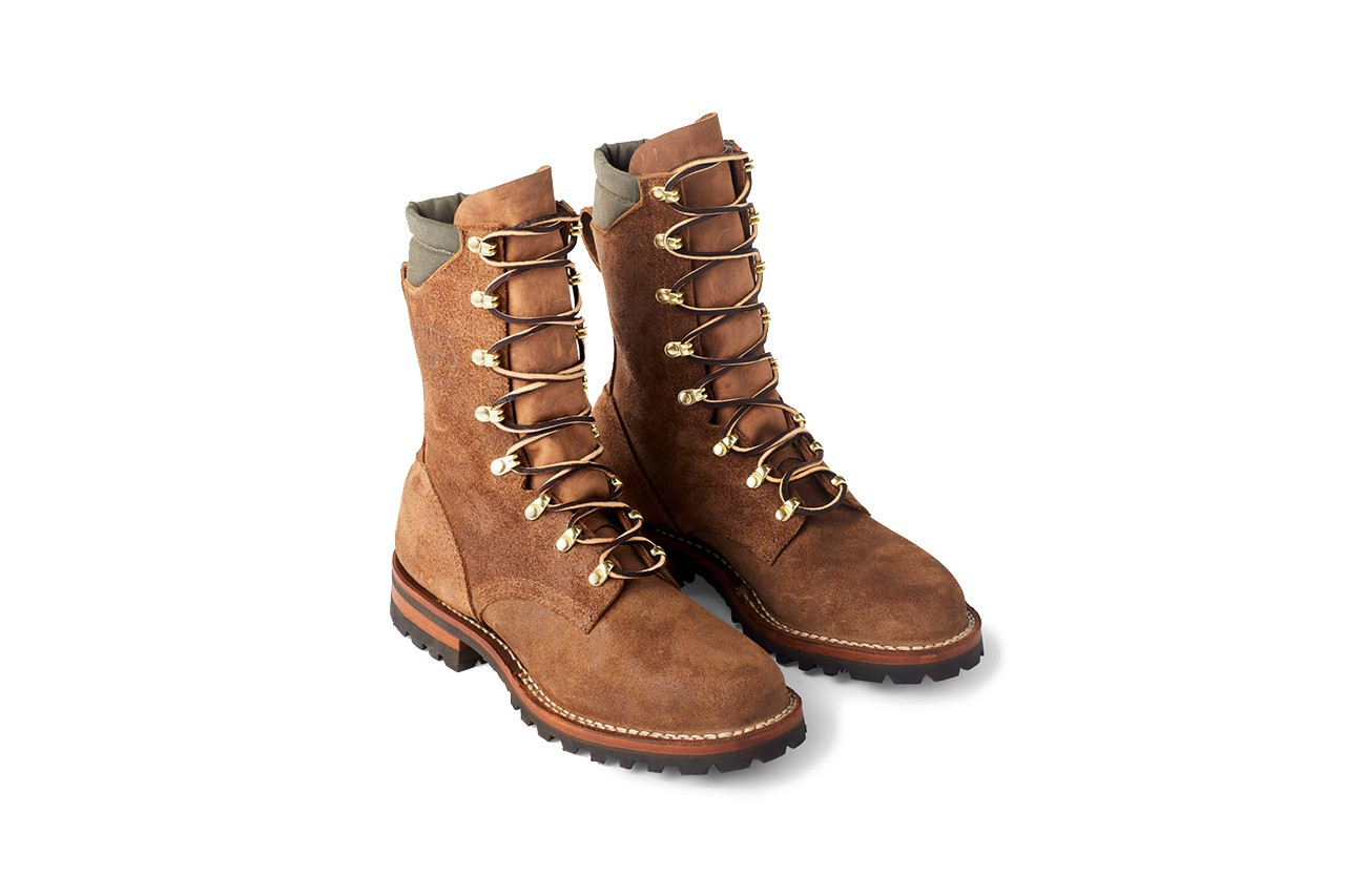 Filson x White's Fire Hybrid Suede Boot Collaboration roughout tin cloth 20204178