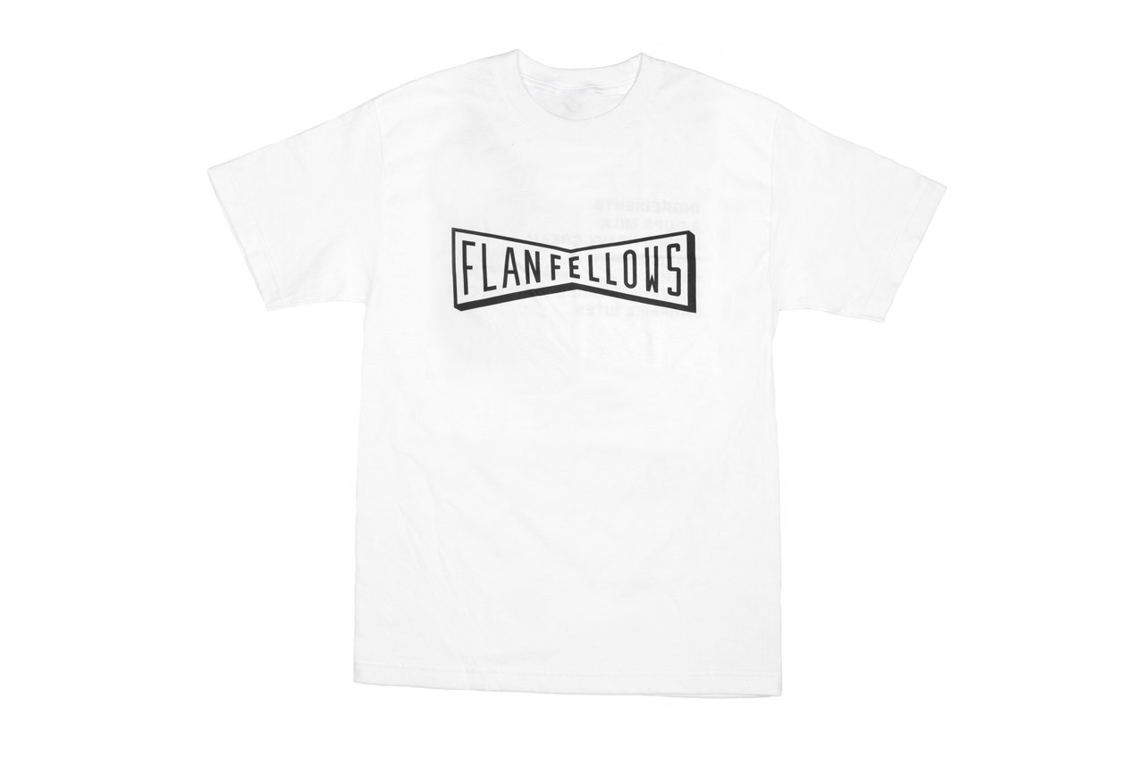 OddFellows x FLAN Summer Capsule Collection T-shirts Aprons Hats Ice Cream Flavor Bowtie Logo White Black Baby Blue