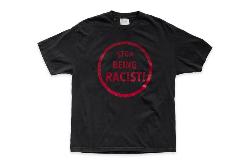 GALLERY DEPT. Stop Being Racist T-Shirt Release Info Buy Price Black White Josué Thomas
