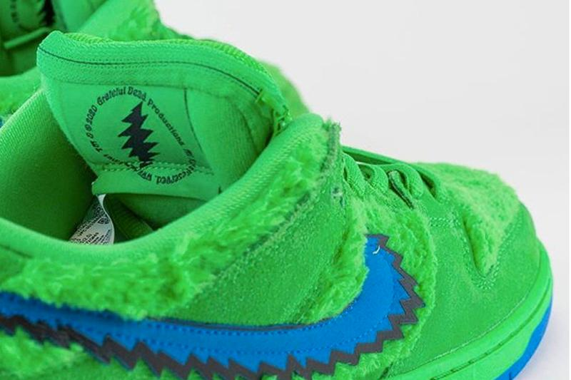 Grateful Dead Nike SB Dunk Low Yellow Green Bear Better Look CJ5378-700 CJ5378-300 Release Info Date Green Spark Soar Opti Yellow Blue Fury