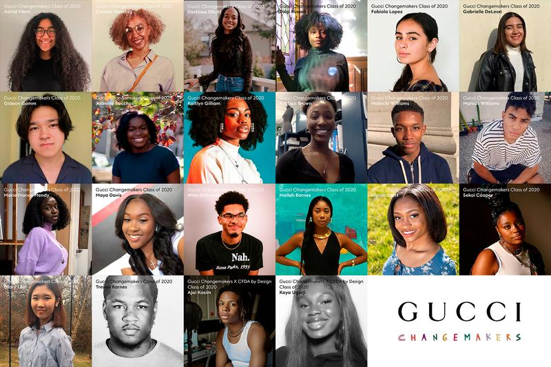 gucci 2020 north america changemakers scholars minorty scholarships 20000 dollars each