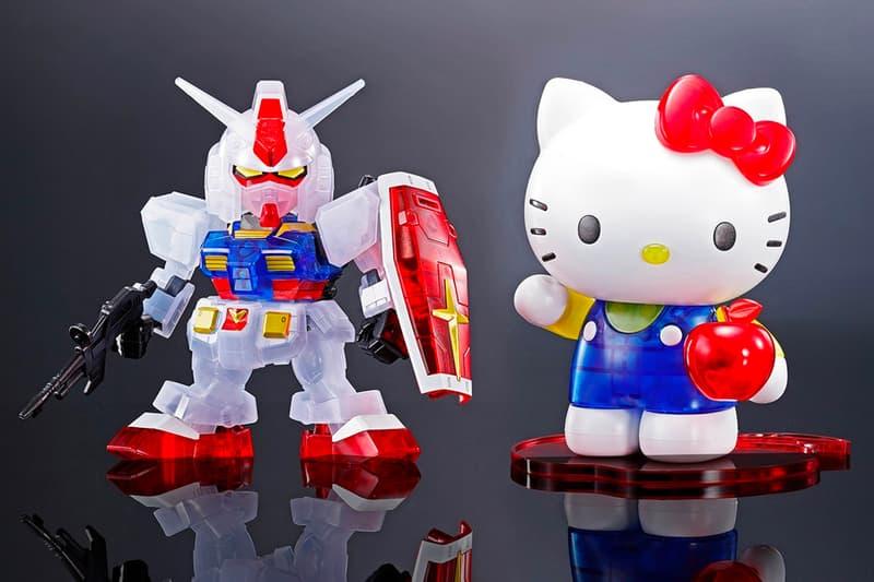 Gundam RX-78-2 Hello Kitty SD EX-STANDARD Clear Model Kit Set Release Info Date Buy Price