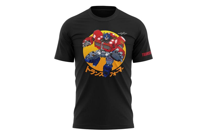 hasbro pulse japanese artist art transformers tees t shirts optimus prime megatron bumblebee fan collection