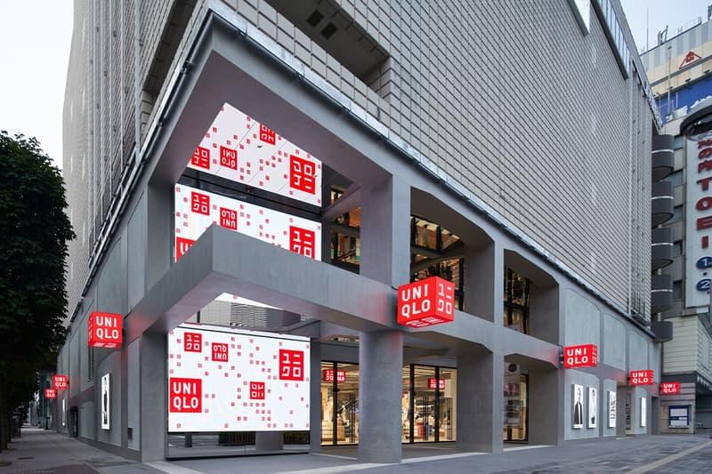 UNIQLO Tokyo Ginza Flagship Store Opening Marronnier Gate Herzog & de Meuron retail Ginza concrete architecture