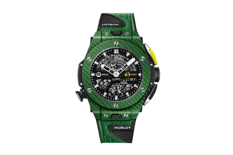 Hublot Unico Golf Green Carbon Big Bang Watch golfing Swiss watches green luxury timepiece wristwatches