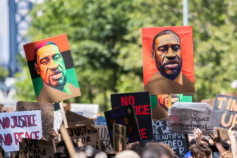 Ethical Guidelines for Protest Photography ICP Noah Morrison George Floyd Black Lives Matter No Justice No Peace Signs Rally