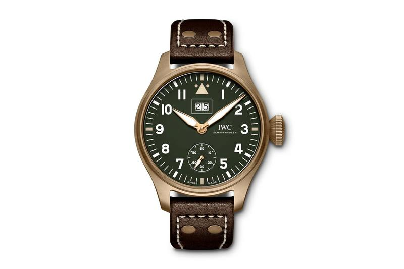 iwc big pilots watch spitfire world tour around the globe mission accomplished flight aviation big date timepiece bronze limited edition