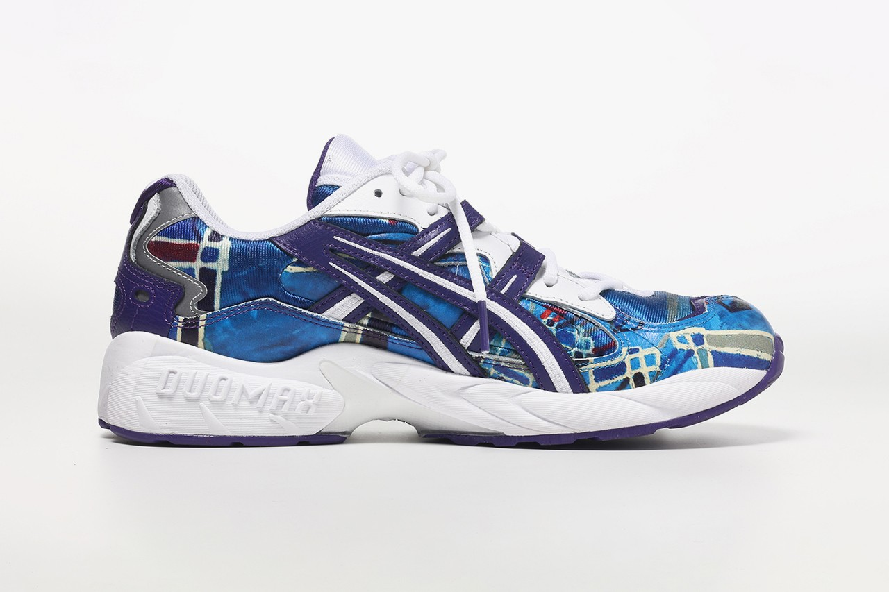 jantje ontembarr asics gel kayano 5 v og paint splatter purple blue silver white red green official raffle release date info photos price store list buying guide