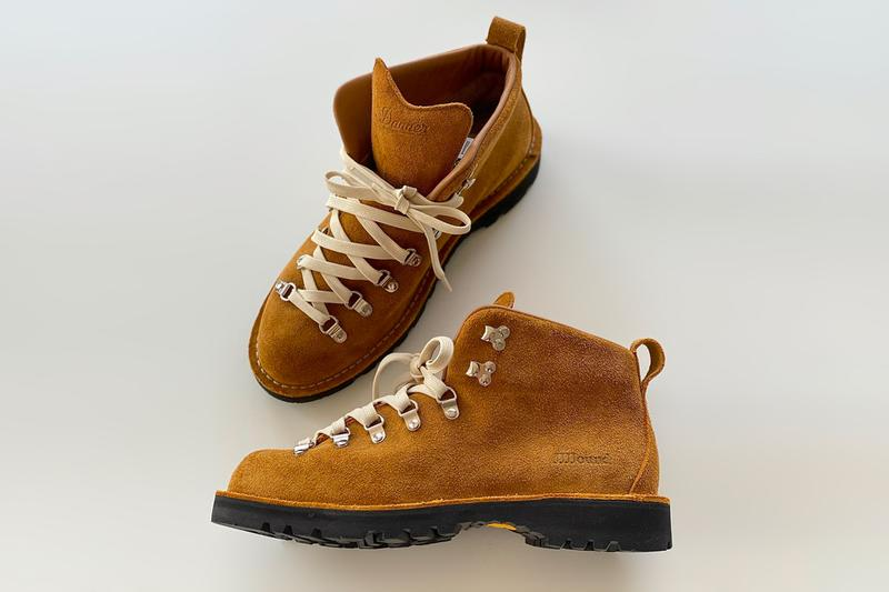 JJJJound x Danner FW20 Mountain Boots Teaser footwear boots kicks leather gore-tex