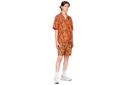 Minimalist Tree Camo Marks John Elliott's Camp Shirt and Practice Shorts