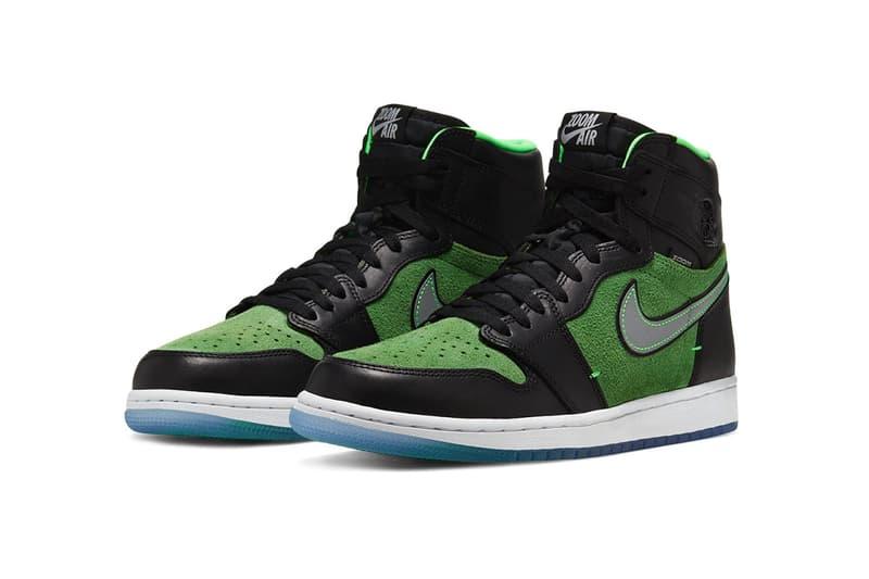 """Jordan Brand Air Jordan 1 Hi Zoom Air Article no. Ck6637-002 BLACK/BLACK-TOMATILLO-RAGE GREEN Sneakersnstuff Release Information Footwear Sneakers Basketball Nike Michael Jordan MJ SB Dunk """"Brut"""""""