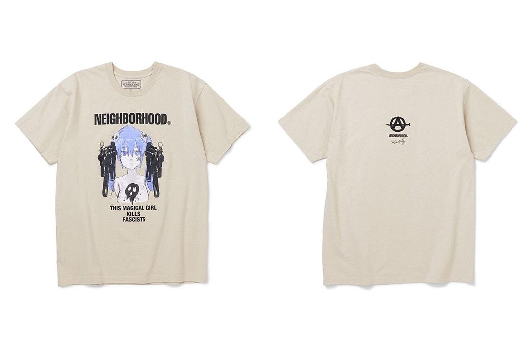 Jun Inagawa x NEIGHBORHOOD Summer 2020 Collaboration ss20 spring collection magical girl artwork