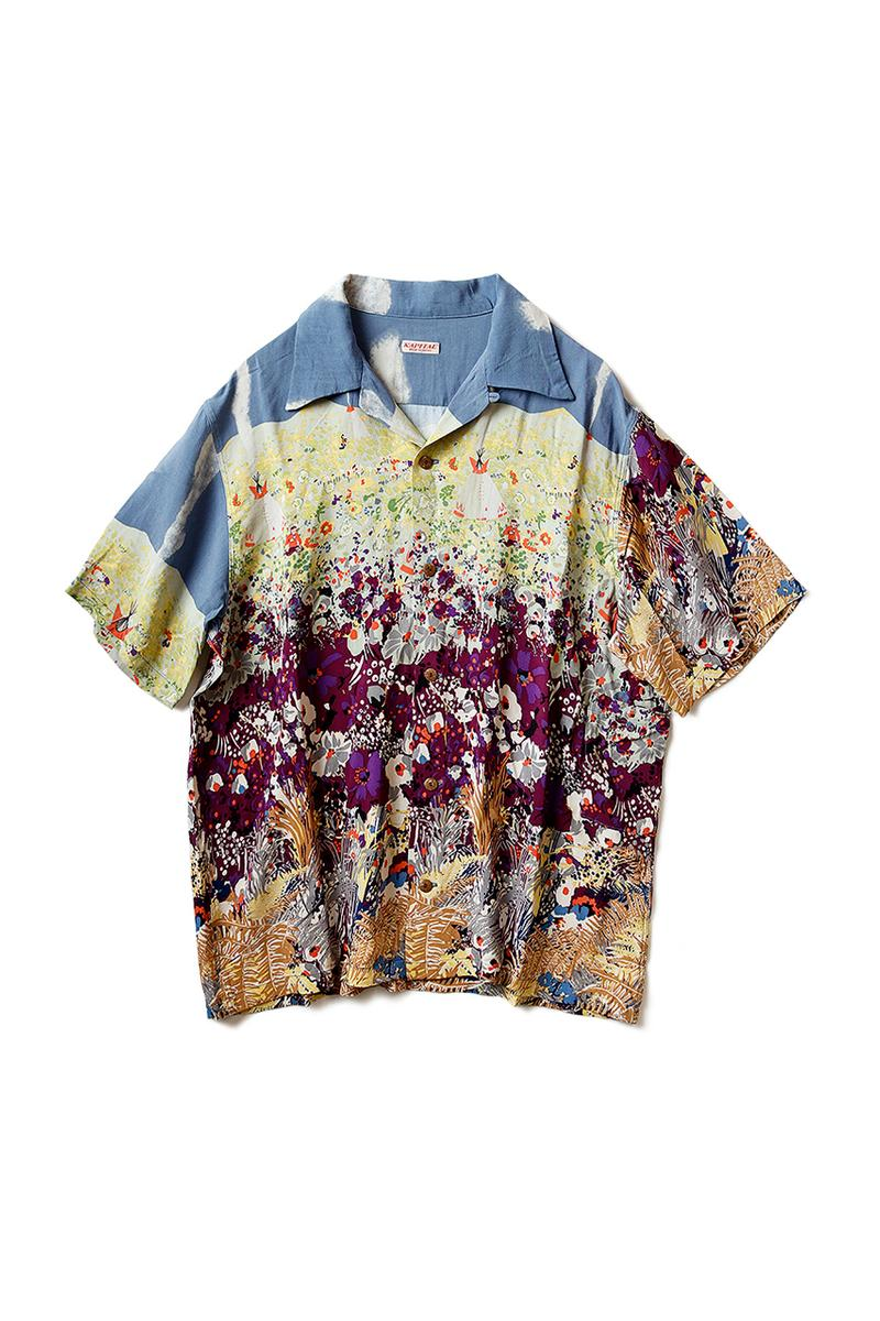 KAPITAL Navaholland Hawaiian Shirt menswear streetwear spring summer 2020 collection japanese button up short sleeve painterly painting impressionism