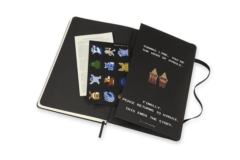 the legend of zelda moleskine notebook journal limited edition collaboration japan LEZDQP060B 5182377 LEZDQP060A 5182376 collectors edition