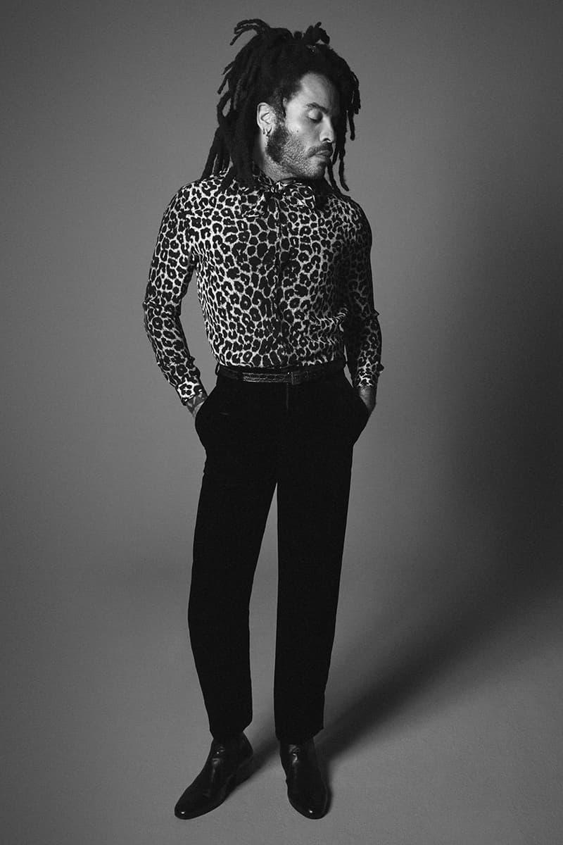 Lenny Kravitz Models SAINT LAURENT Fall Winter 2020 Campaign menswear streetwear luxury house french brand label musician artist