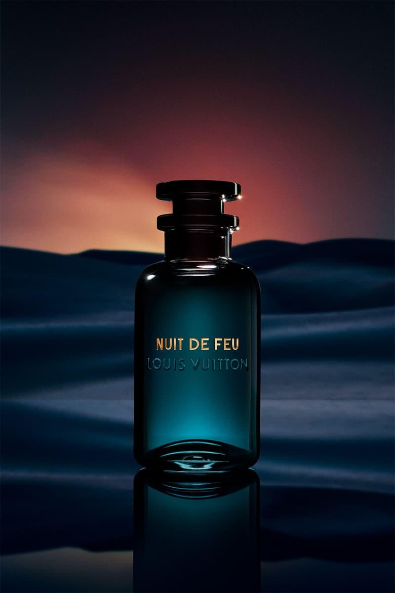 Louis Vuitton Parfums Nuit de Feu Scent, Case leather exotic perfume cologne middle east