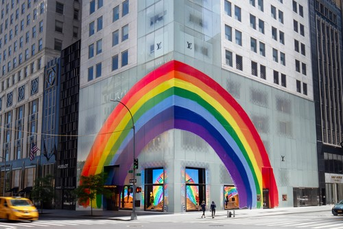 Louis Vuitton Covers Its Maisons All Around the World in Rainbow Graphics