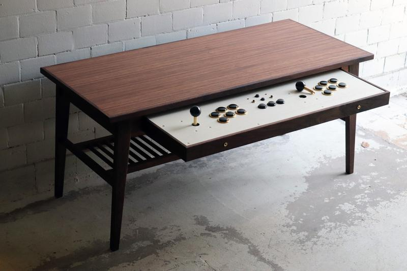 Love Hulten Introduce a Coffee Table With Built-In Arcade Sticks Gaming Controllers Fight Sticks