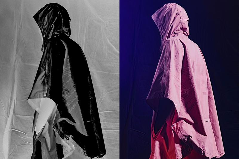 """maharishi """"SUMMER TECHNICAL"""" Spring/Summer 2020 SS20 Collection Lookbook Alastair Strong Recycled Vegetable Dyed Fabrics Materials Reinforced 3M Tech Poncho Water Repellant"""
