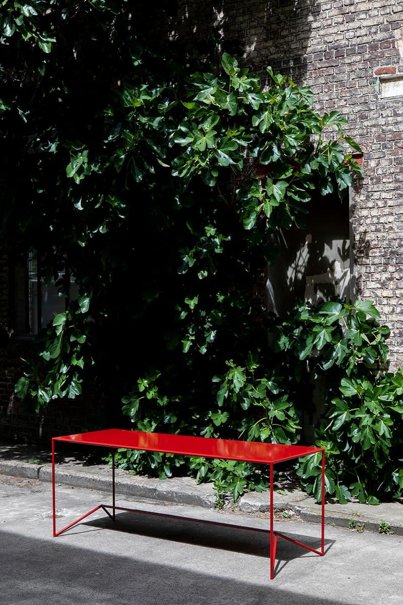 Maria Scarpulla 'Campi di Colore' Lacquered Indoor-Outdoor Tables Primary Colors Design Furniture Belgian Hand Made Artworks Atelier Ecru gallery Ghent