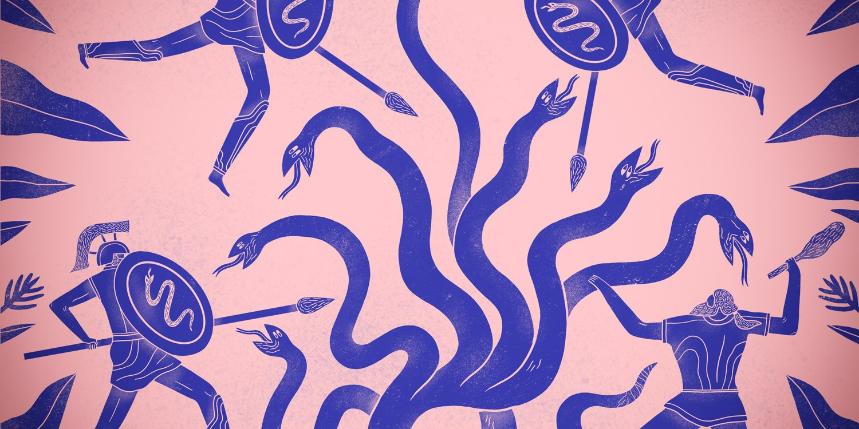 Pen & Paper: Mark Conlan Digital Illustrator People Vases Flowers Plants Greek Roman Patterns
