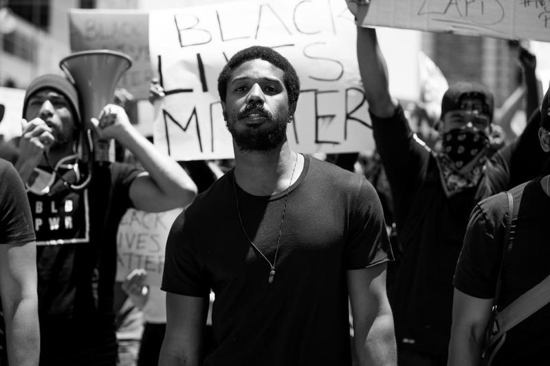 Michael B. Jordan Black Lives Matter Speech Los Angeles demonstration protests anti-racism structural change blm #blacklivesmatter social justice advocate activism