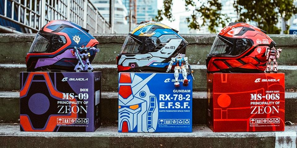 Bilmola Taps Mobile Suit Gundam For Motorcycle Helmet Series