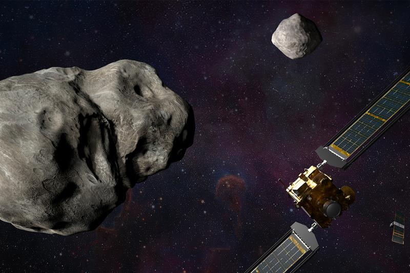 NASA Planetary Defense Mission Target New Name Didymos B twin orbitting around Dimorphos Info