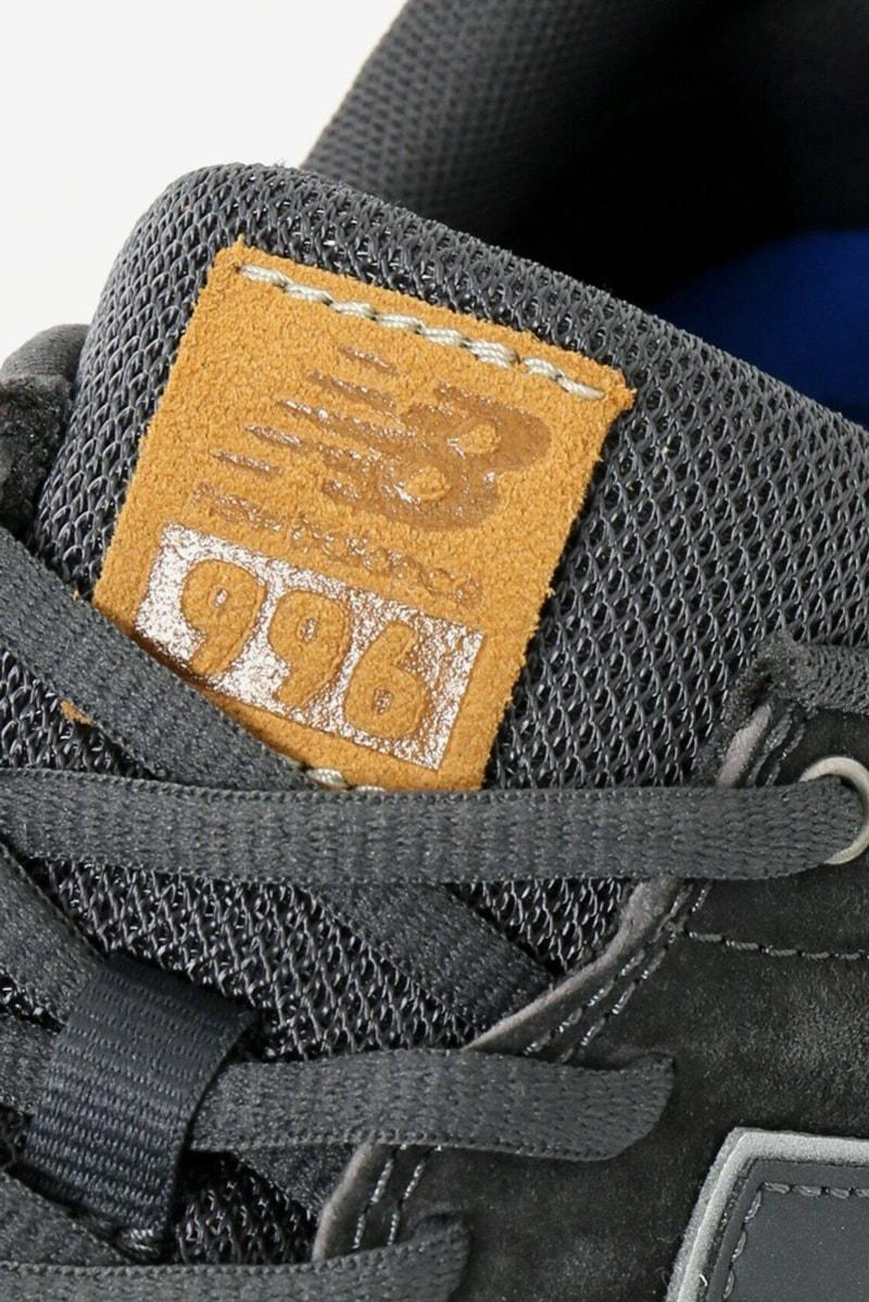 New Balance CM996 Black Cordura grey Suede journal standard japan jp 996 sneakers shoe tan nubuck tongue tag encap v2 version 2