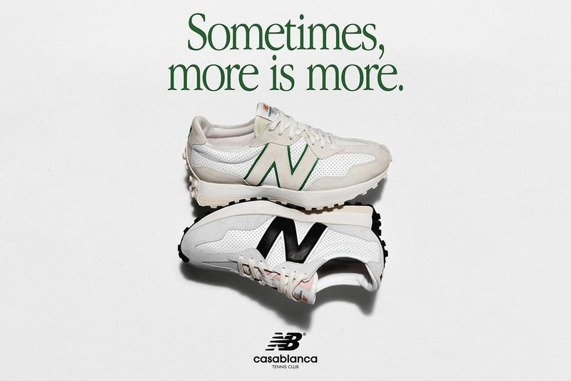casablanca charaf tajer new balance 327 white black green release information idealiste buy cop purchase details