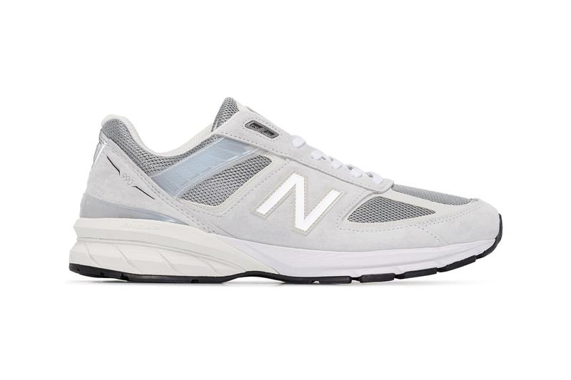 New Balance Grey M990 Reflective Sneakers browns