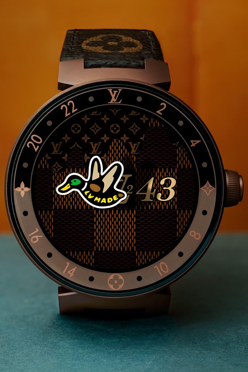 NIGO Virgil Abloh Louis Vuitton LV² Drop 1 Detailed Look Damier Waves Denim Jacket Embroidered Shirt Squared LV Sweatshirt Zipthrough Cosy Mule Monogram Voltaire Loafers Mods bear Canvas