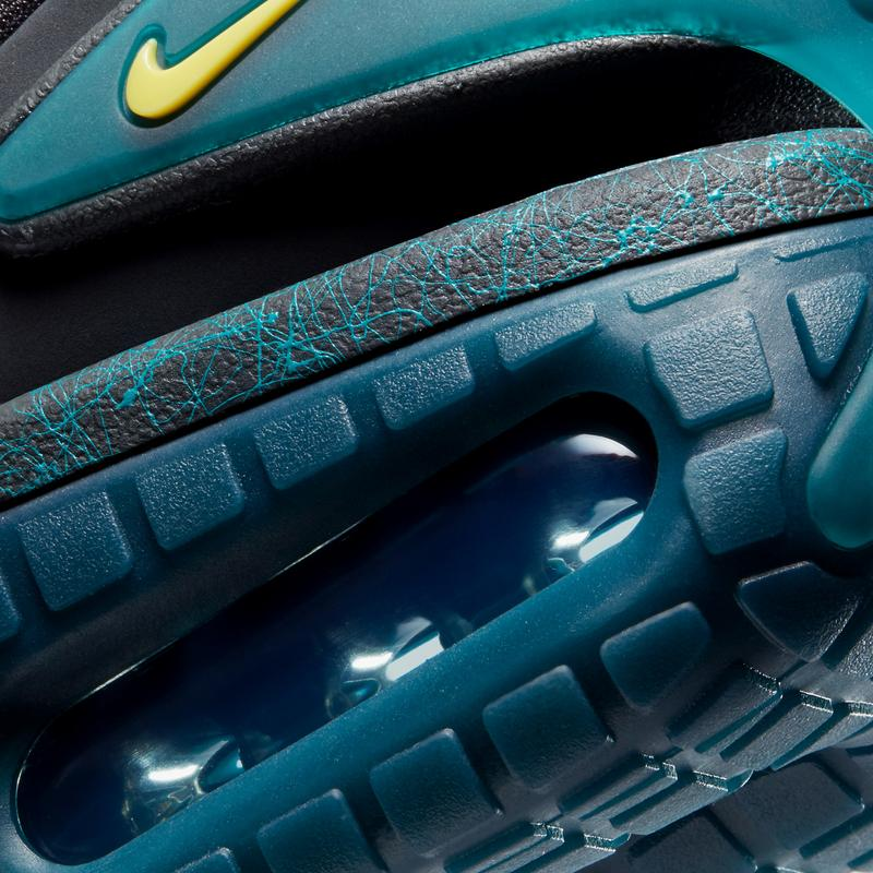 nike sportswear adaptar auto max carvão preto deslumbrante esmeralda verde velocidade amarelo cw7271 001 data de lançamento oficial informações fotos preço lista de lojas
