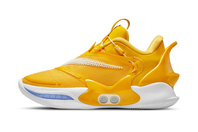 nike basketball nba 2k20 adapt bb 2 0 winners circle gold yellow blue white official release unlock date info photos price store list myplayer finals