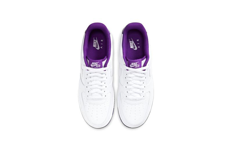 Nike Air Force 1 07 White Voltage Purple Release CJ1380-100