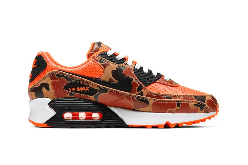 nike air max 90 duck camo total orange fall 2020 release info drop